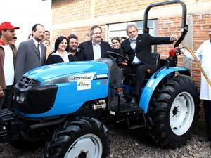 O presidente Luiz Inácio Lula da Silva durante entrega de tratores no Rio Grande do Sul
