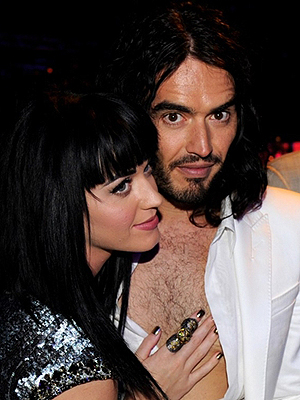 Katy Perry e Russel Brand, durante evento em Los Angeles