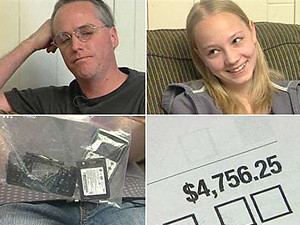 Gregg Christoffersen destruiu o telefone da filha com um martelo após ela receber uma conta de US$ 4.756,25 (cerca de R$ 10,5 mil).