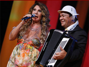 Elba Ramalho e Dominguinhos em um prmio de msica em 2008 (Foto: Felipe Panfili / G1)