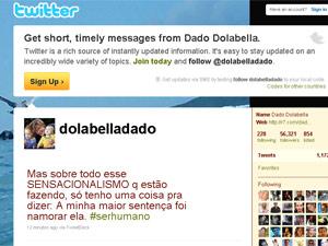 Dado fez desabafo sobre ex-namorada no Twitter