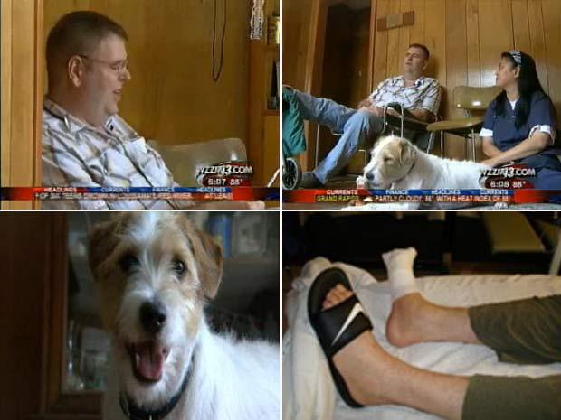Jerry Douthett disse que seu cão salvou sua vida.