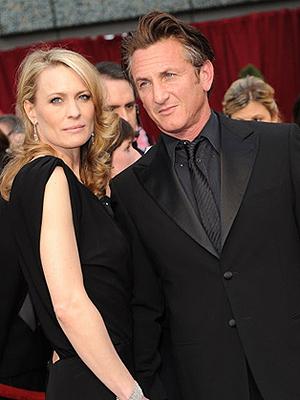 Sean Penn e Robin Wright: sala está oficialmente separado nos EUA.