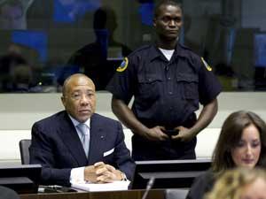 O ex-presidente da Libéria, Charles Taylor, no Tribunal de Haia.