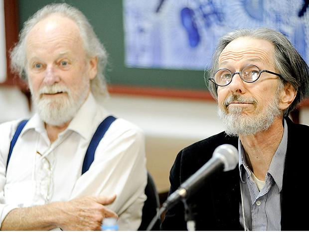Gilbert Shelton ao lado de Robert Crumb, o mais influente artista de quadrinhos de todos os tempos