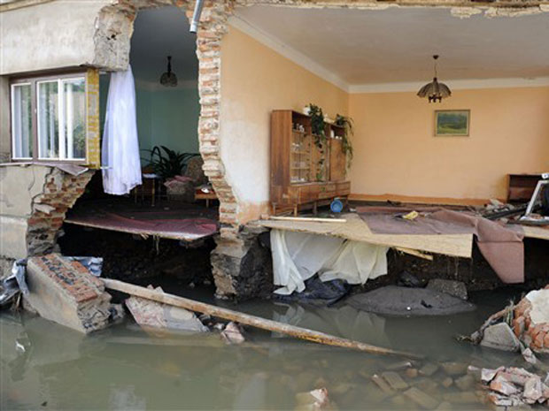 Casa destruída na República Checa