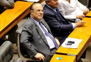 O deputado Paulo Maluf, durante sessão plenária