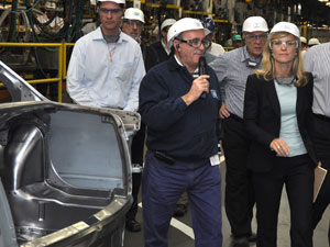 Denise Johnson, nova presidente da GM do Brasil, na fábrica de São Caetano