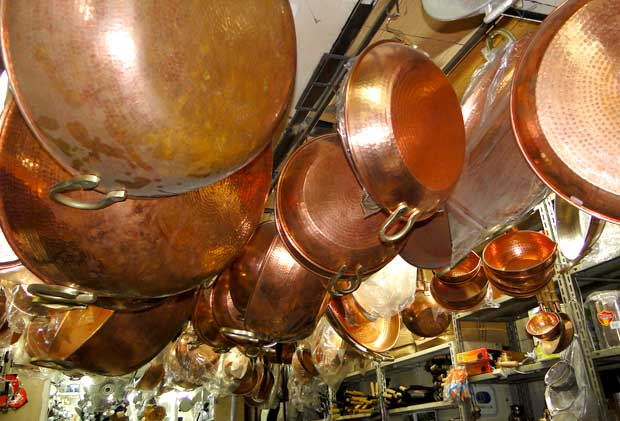 Tachos de cobre