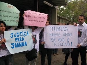 Parentes pedem justiça e explicação para a morte de Joanna