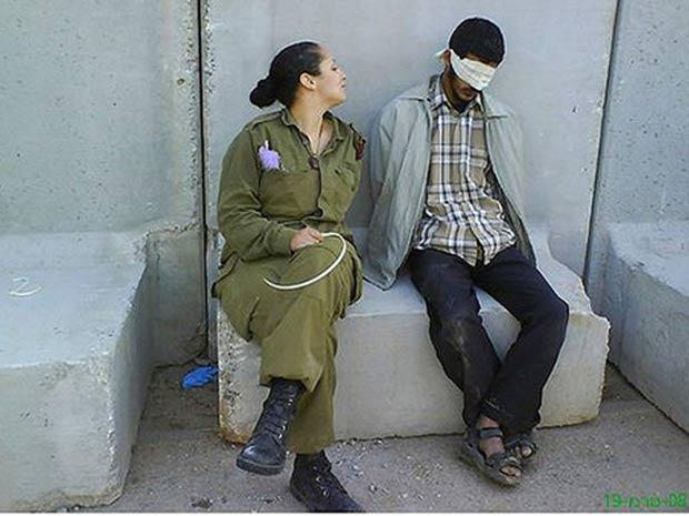 imagem publicada no Facebook da ex-recruta israelense  Eden Aberjil