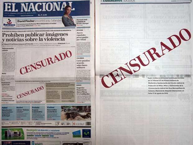 Edição do jornal venezuelano 'El Nacional' publica protesto contra o que chama de censura do governo à imprensa