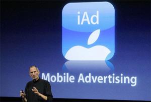 Anunciantes já investiram 60 milhões de dólares em campanhas do iAd, plataforma da Apple para anúncios no iPhone.