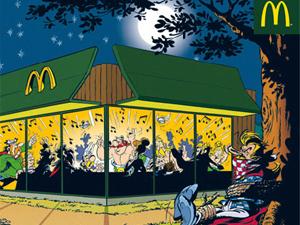 'Asterix' promovendo McDonald's: uso de ícone francês causa polêmica.