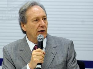 O presidente do TSE, ministro Ricardo Lewandowski, no 50º Encontro de Presidentes de Tribunais Regionais Eleitorais