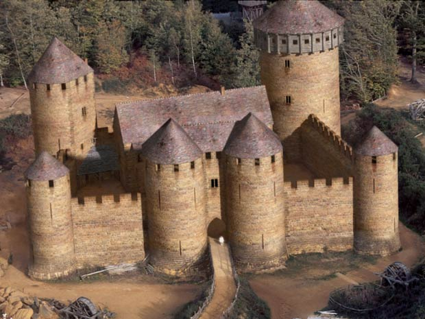 G1 franceses constroem castelo com t cnicas medievais for Build your own castle home