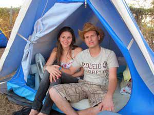 noivos camping