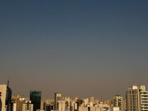 Umidade relativa do ar chegou a 20% no início da tarde desta segunda