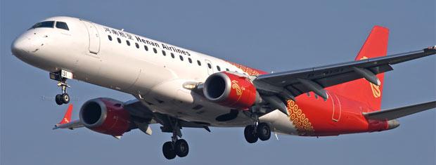 Foto divulgada pela agência chinesa Xinhua mostra avião semelhante ao acidentado nesta terça-feira (24).