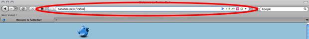 Complemento do Firefox que permite tuitar pela barra de endereços.