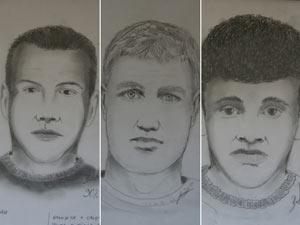 Retratos falados dos suspeitos de matar delegado