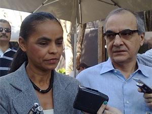 Marina Silva e Guilherme Leal em São Paulo