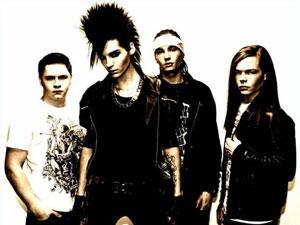 O grupo de pop rock alemão Tokio Hotel.