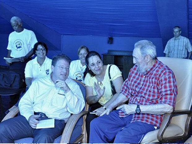 Fidel Castro, durante visita ao Aquário Nacional em Havana