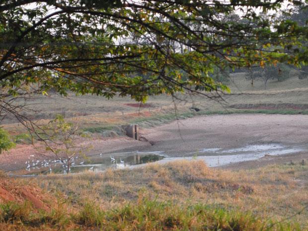 Falta de chuva faz lago secar