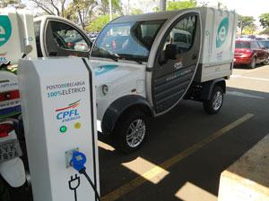 Protótipo de posto recarga para carros elétrico da CPFL Energia (Foto: Divulgação)