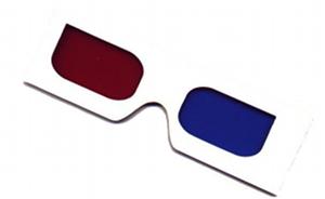 Óculos 3D anáglifos.