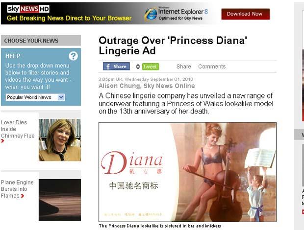 Anúncio provocou polêmica no Reino Unido.