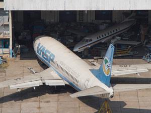 Aviões da Vasp se deterioram no Aeroporto de Congonhas em meio à disputa judicial