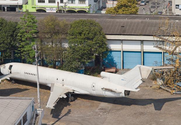 Avião da Vasp no Aeroporto de Congonhas