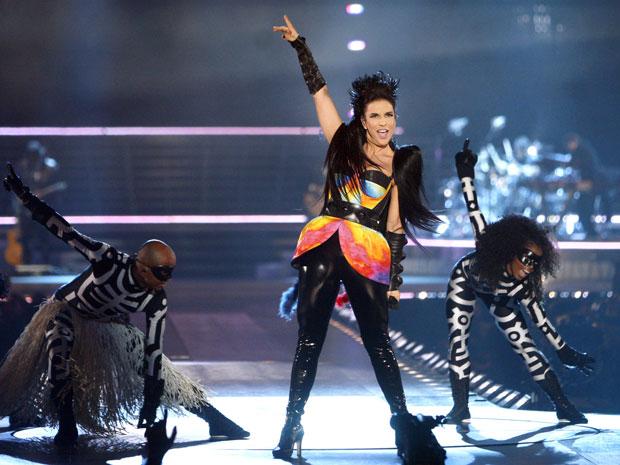 Ivete Sangalo grava novo DVD no Madison Square, em Nova York, nos Estados Unidos.