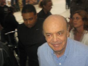 O candidato do PSDB à Presidência José Serra ao evento de campanha em São Paulo