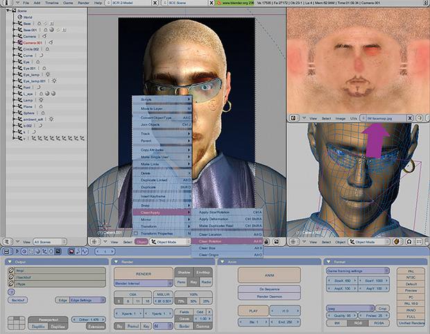 O Blender é ferramenta de edição de imagens, vídeos e games em 3D.