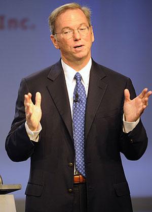 Eric Schmidt, presidente do Google, durante apresentação na IFA