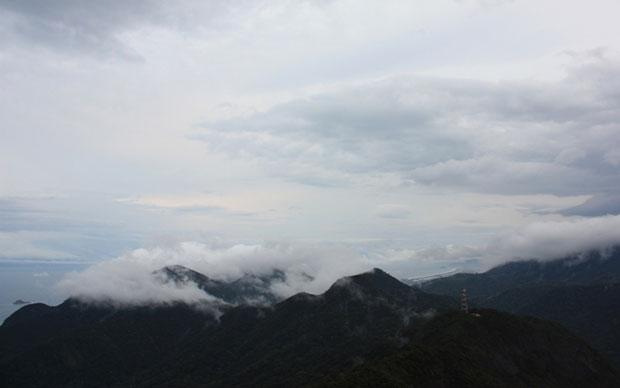 Nuvens cobrindo o céu do Rio