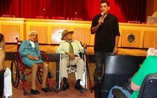 O ex-cangaceiro Moreno, que morreu na última segunda, com a mulher Durvina