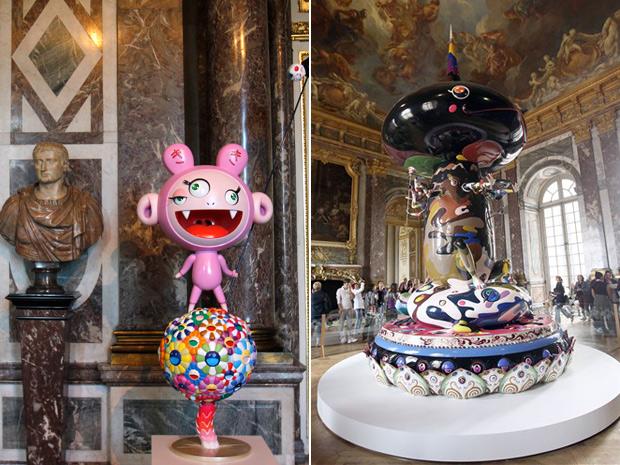 Esculturas do artista japonês Takashi Murakami
