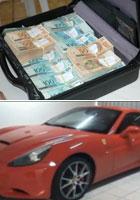 PF apreende  R$ 1 milhão e 5 carros de luxo (Divulgação)