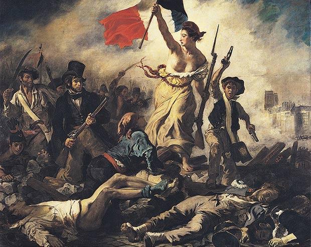 Quadro 'A Liberdade Guiando o Povo', de Eugène Delacroix.