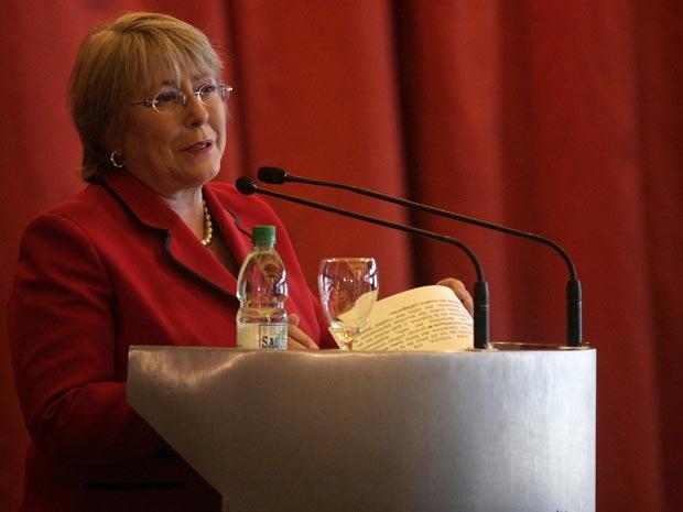 A ex-presidente do Chile Michelle Bachelet em 17 de agosto.