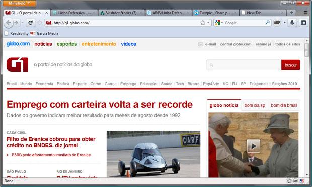 Navegador da Mozilla também copiou o Chrome.