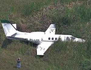 Avião sai da pista no Rio (Reprodução/TV Globo)