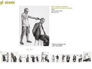 Em outro quadro da série de Gil Vicente, o ex-presidente Fernando Henrique Cardoso é ameaçado com arma.