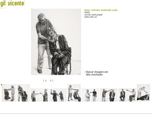 Site de Gil Vicente traz quadro da série 'Inimigos' em que o artista corta a garganta do presidente Lula