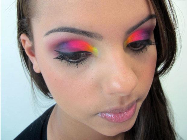 Maquiagem flúor
