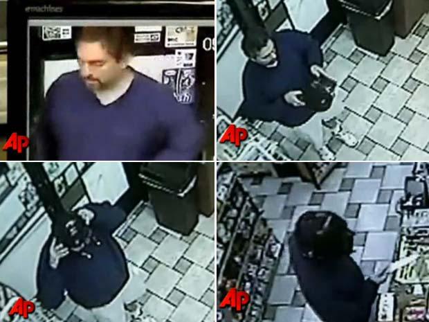 Ladrão acabou filmado antes de colocar a máscara do vilão.